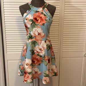 Crystal Doll Floral Print Dress